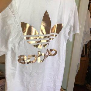 adidas Tops - Rose Gold Adidas Tee